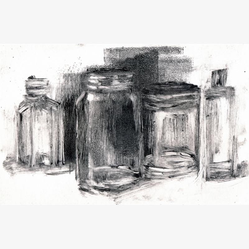 Still Life with Glass Jars, 2018