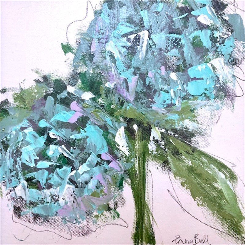Blue Hydrangeas, 2019