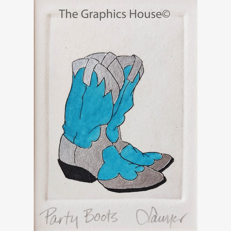 Party Boots, Turq/Silver_UF