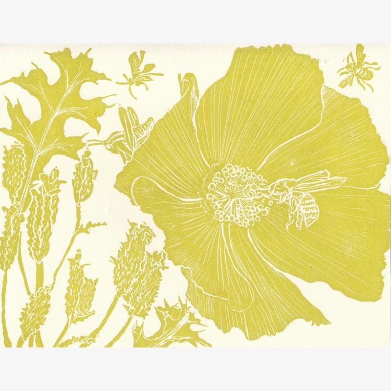 Bee & Poppy Card, 2019