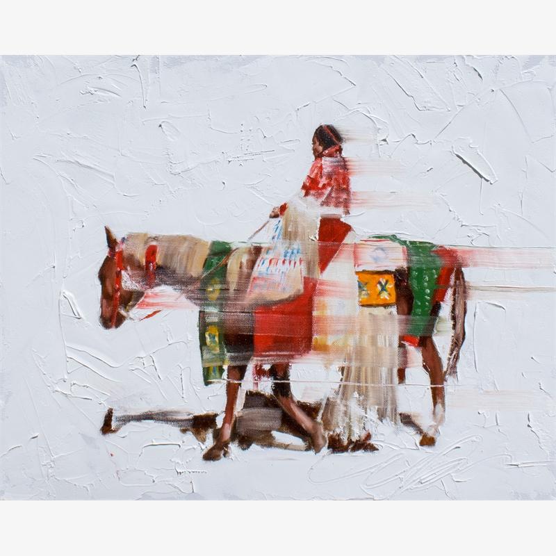 Vanishing Series:  Women's Traditional Horseback on Red, Volume II, 2019