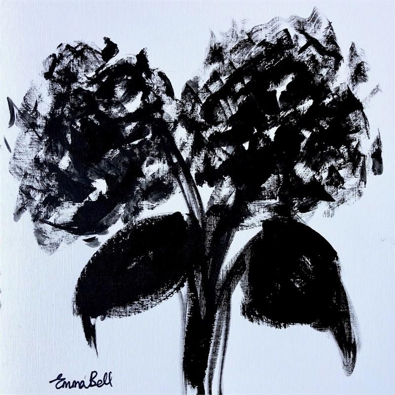 Black & White 2 Hydrangeas, 2018