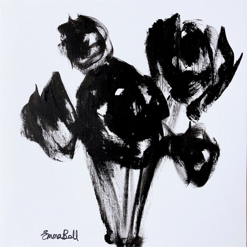 Black & White Fire Roses, 2018
