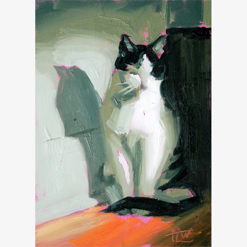 Zen Kitty (Study) by Tracy Wall