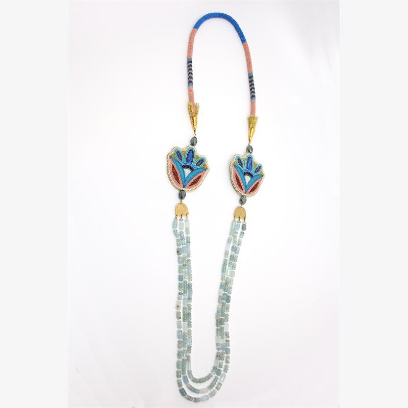 Aquamarine Necklace, 2019