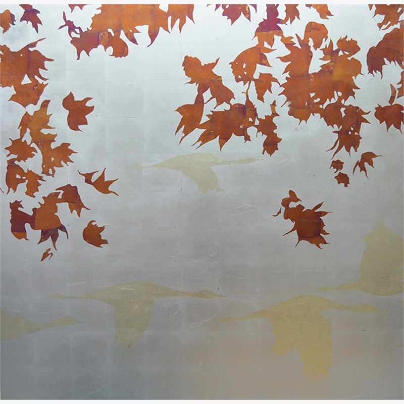 Disappearing Into Autumn (left) - SOLD, 2018