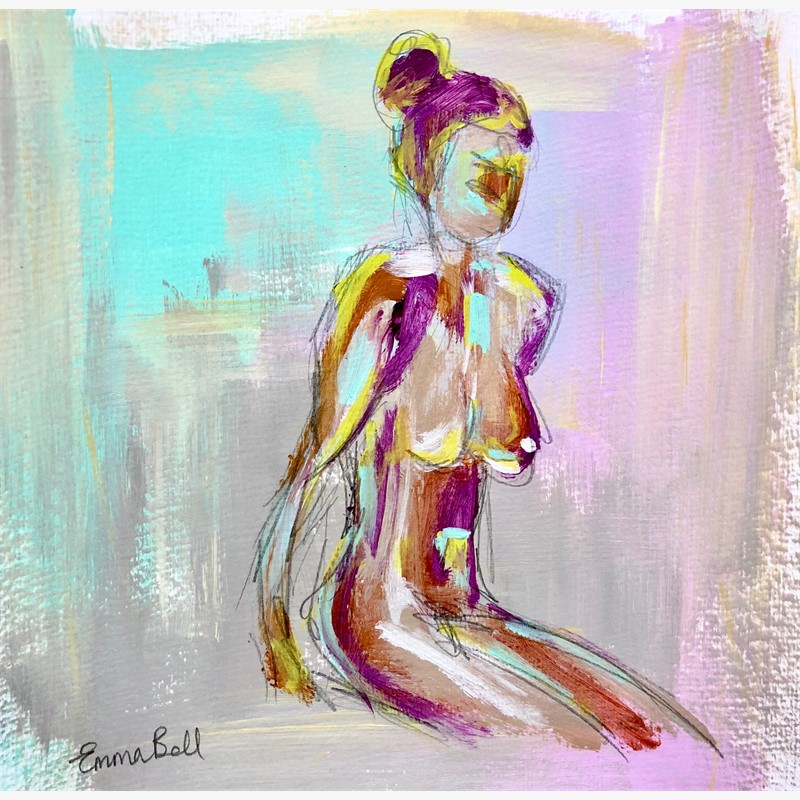 Lilac Aqua Lady I, 2018
