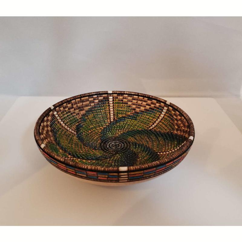 Green and Gold Pinwheel vase