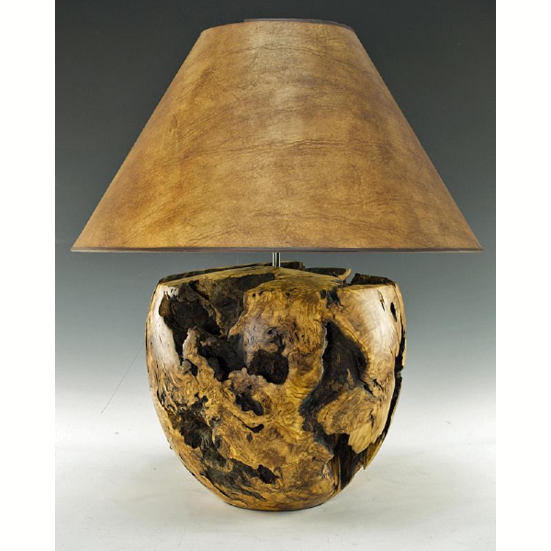 Olive Wood Lamp
