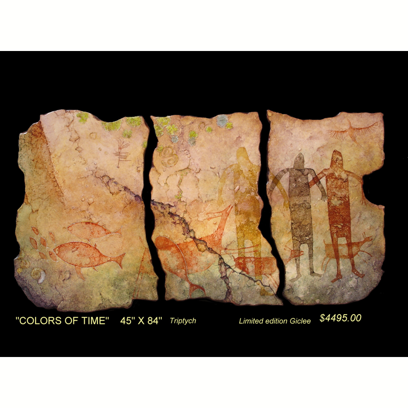"""""""Colors of Time"""" Triptych (3) (13/50)"""