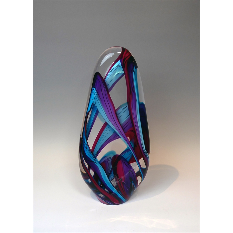 Color Ribbon - Red, Purple & Turquoise