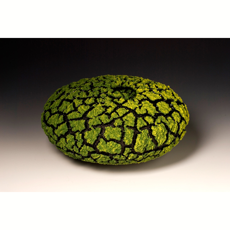 Lime Green Lichen Vessel