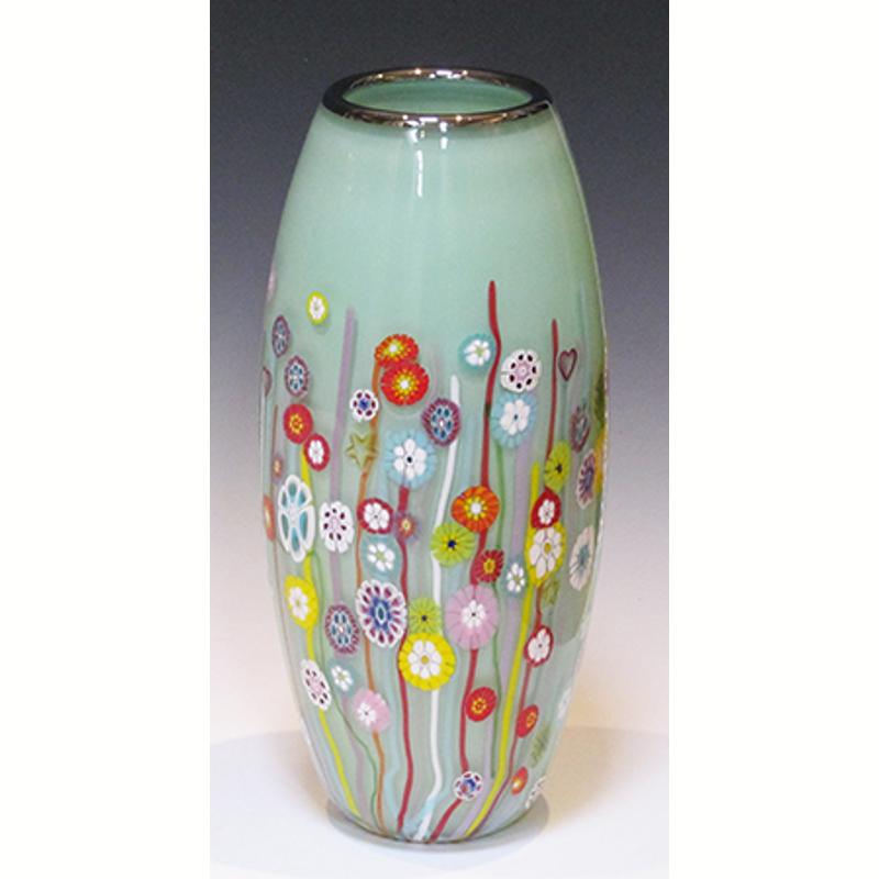 Celadon Milflorie Vase