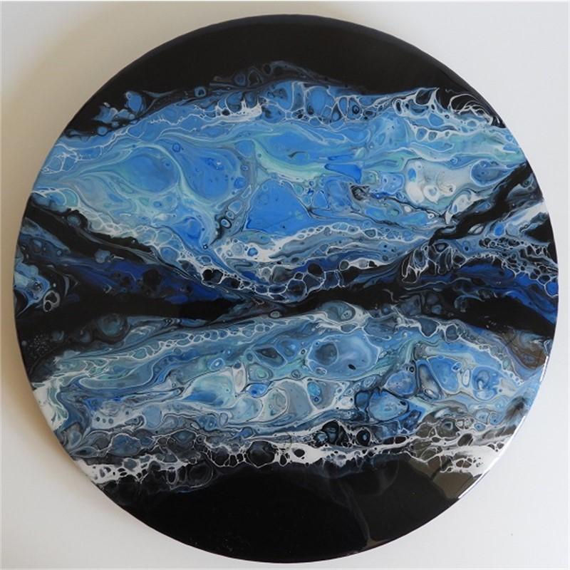 "Pirouette 14"" Black Flow Wave , 2018"