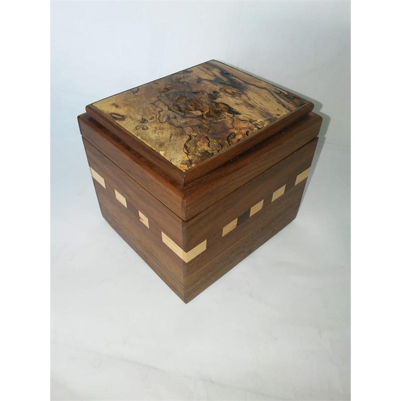 Box #25 Walnut, Maple & Spalted Birch, 2019