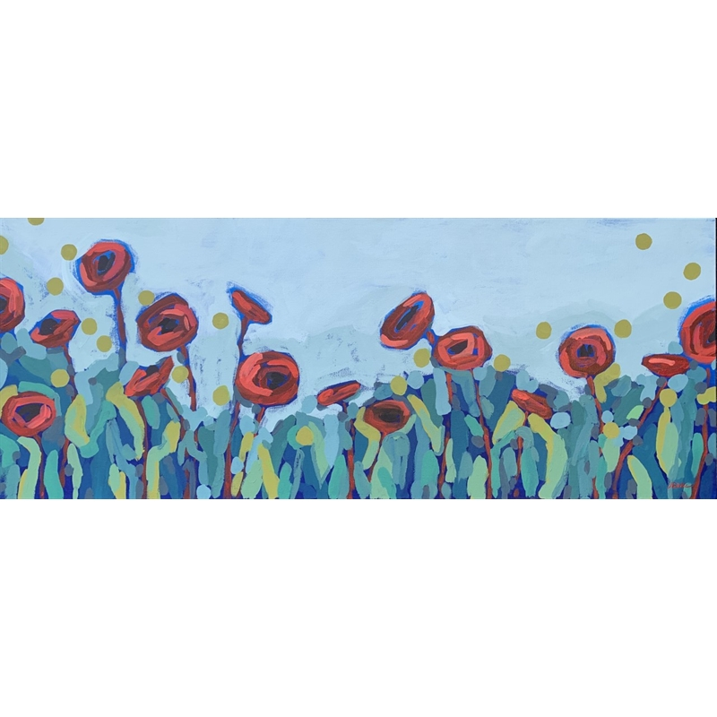 Red Poppies and Dots II