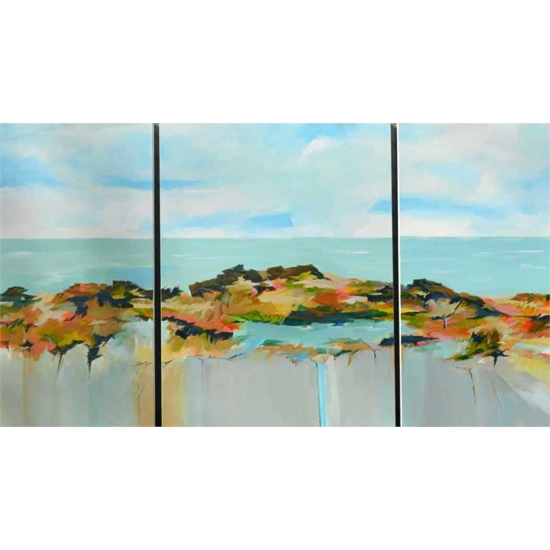 Spring Into Summer, Triptych, 2017