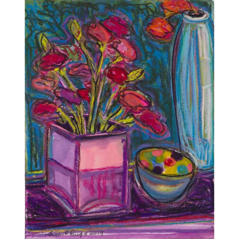 Carnations and Adler Vase I
