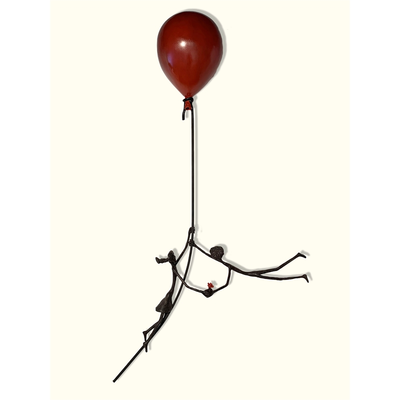 Couple on a Red Balloon (Red Flower), 2019