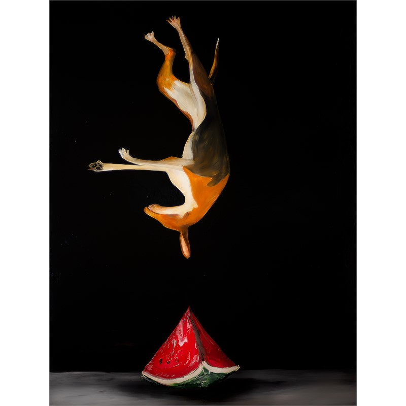 DOG AND WATERMELON LS-DF-45x60-2019-145.jpg, 2019