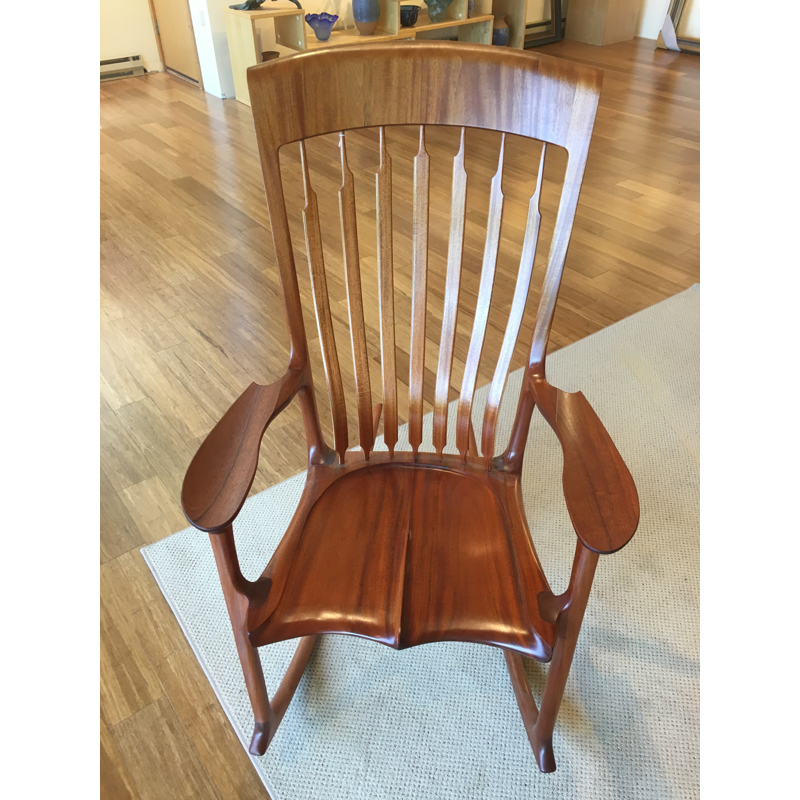 Myrtle Wood Rocker Rocking Chair