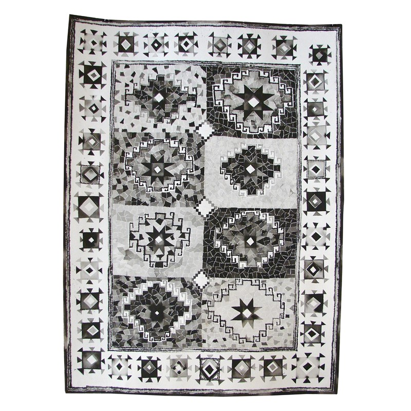 Black & White Memling Gul Rug, Central Turkey