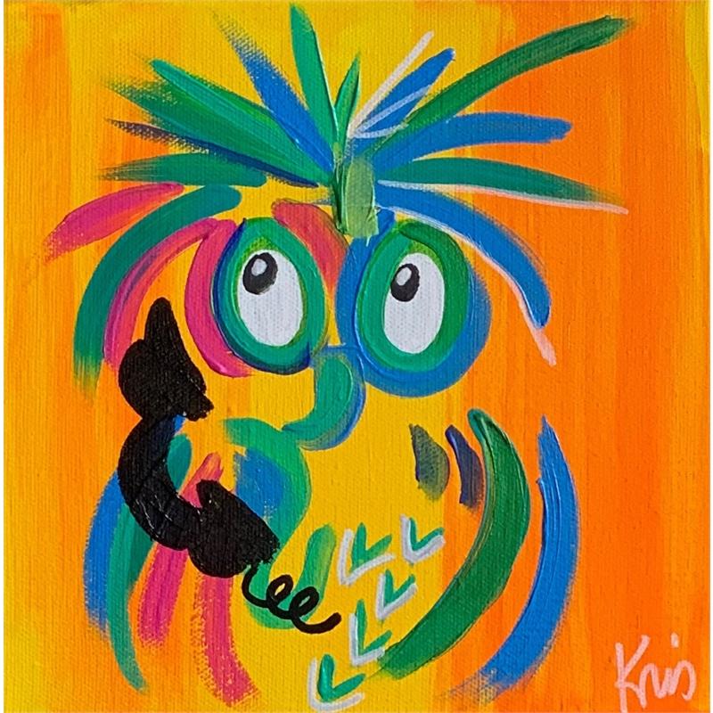 Orange Calling Bird by Kris Manning