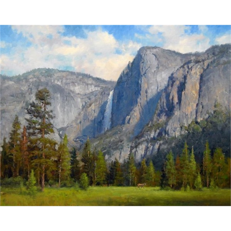 Yosemite Falls Yosemite Falls with Deer