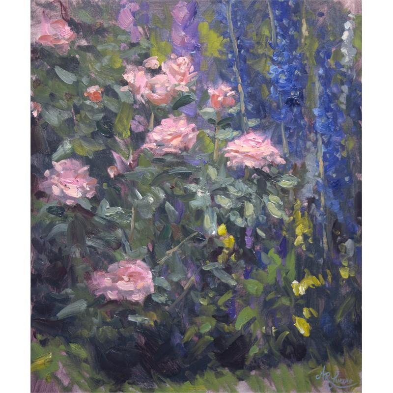 Roses and Delphinium, 2019