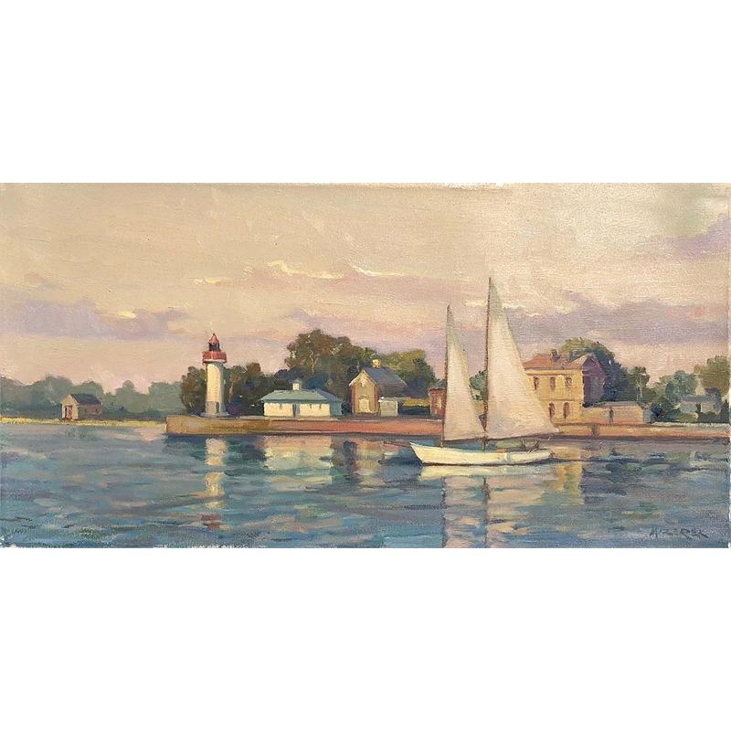"""Sailing By Honfleur Light"", 2019"