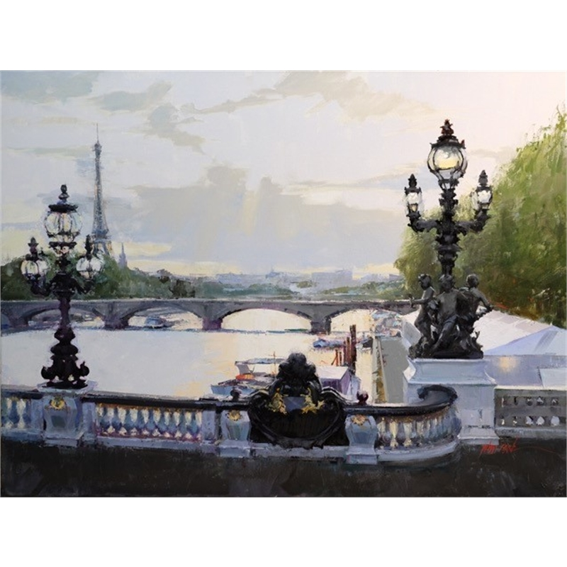 """Gilded Bridge, Paris"""