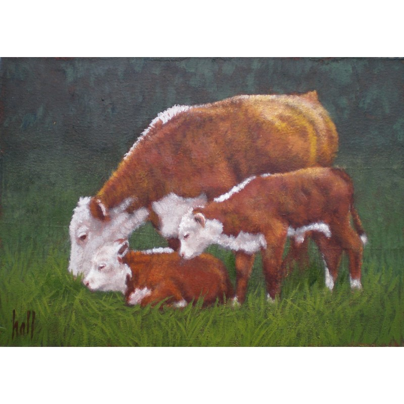 Hereford Cow Plus Two
