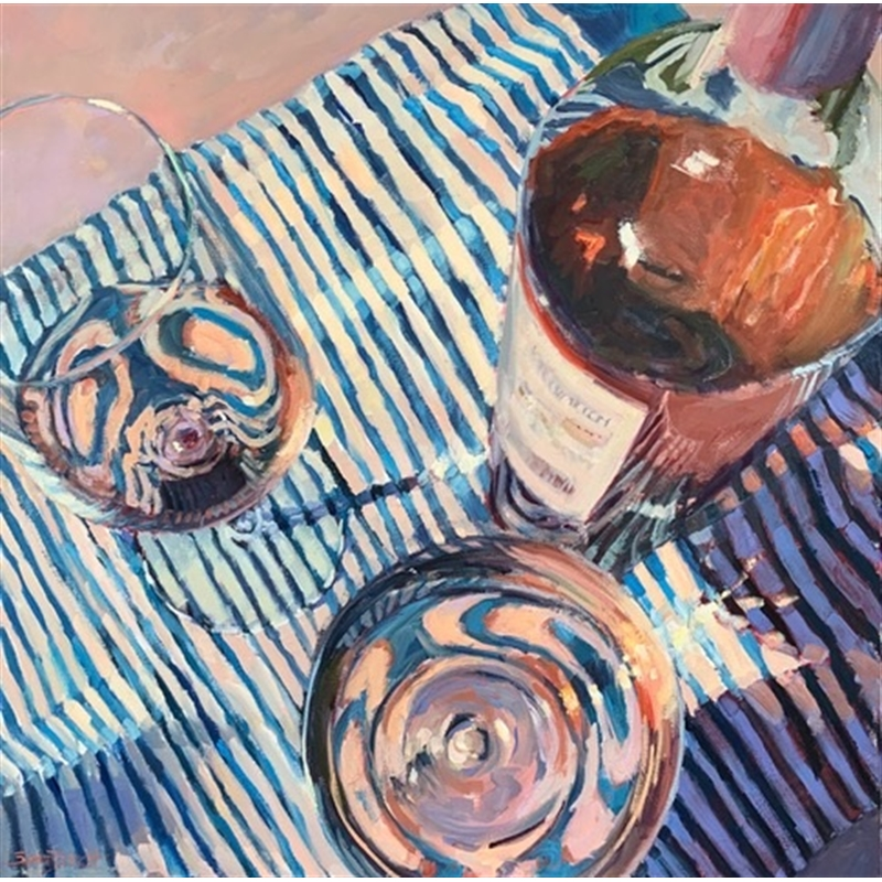 Pattern Play and Rosé by Susan Hecht