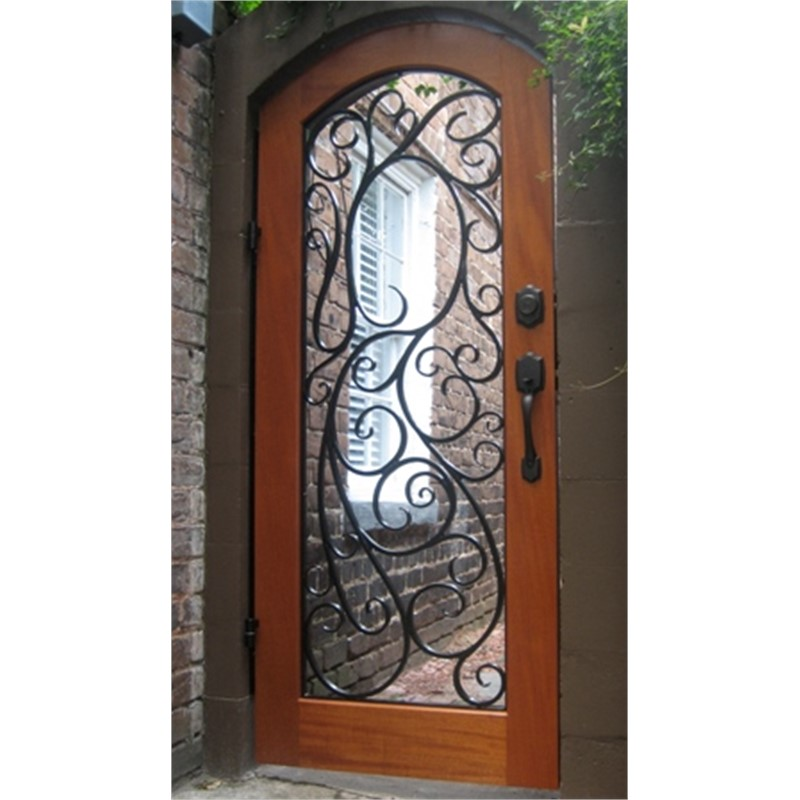 Wood and Wrought Iron Door