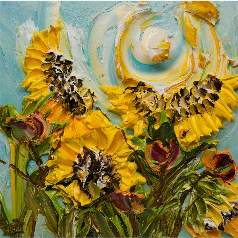 SUNFLOWERS SF-24X24-2019-375, 2019