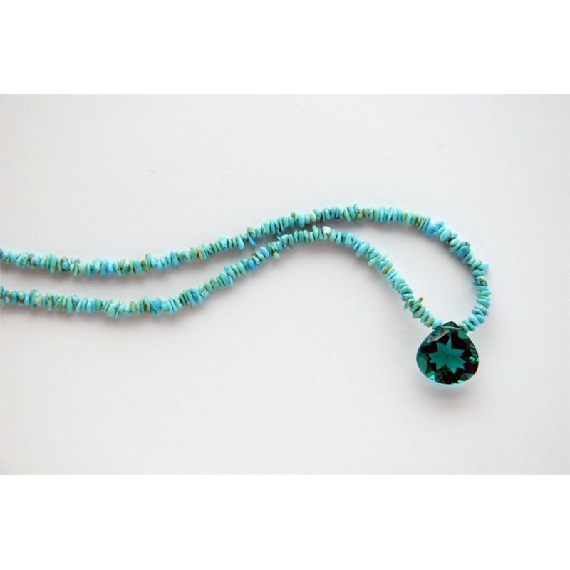Turquoise with quartz pendant, 2019
