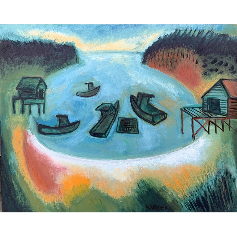Four Boats, Mackerel Cove, Harpswell