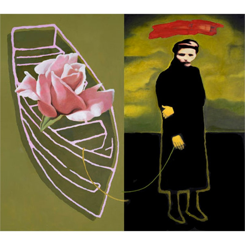 MELANCHOLY WITH A CHANCE OF ROSE (diptych), 2014