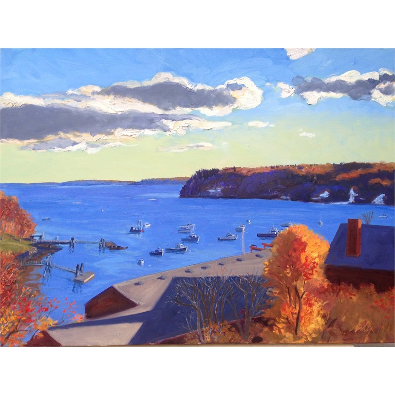 Rockport Harbor in Fall