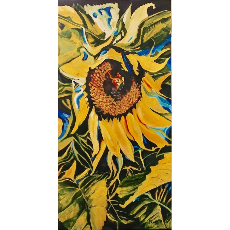 Sunny Sunflower Abstract, 2018