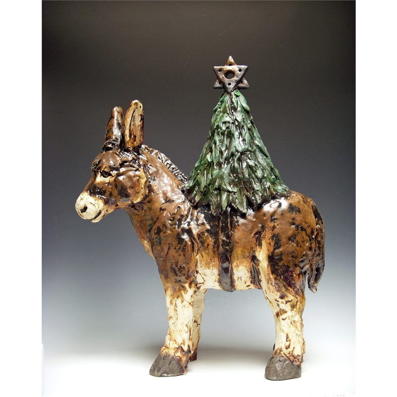Bringing the Light (donkey with tree), 2019
