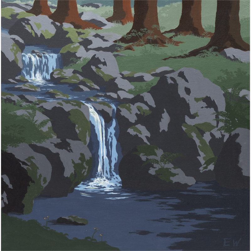 Cascading Brook (3 of 3 in Triptych)
