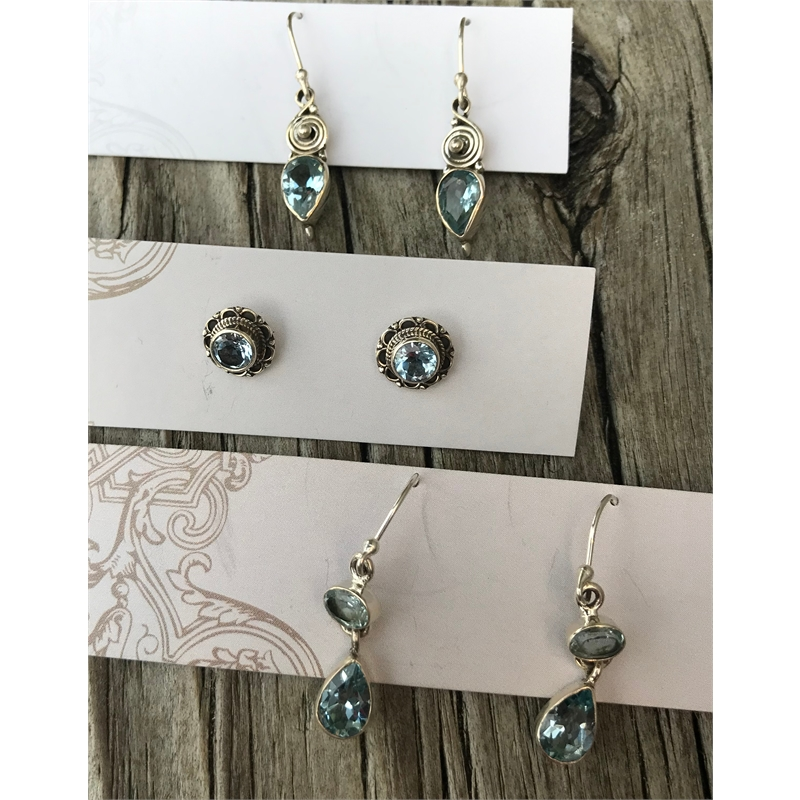 Blue Topaz Earrings, 2020