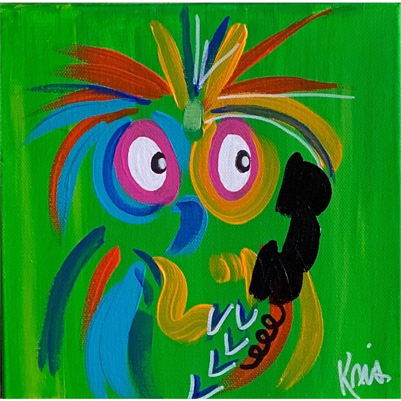 Green Calling Bird by Kris Manning