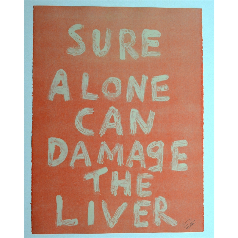 SURE ALONE CAN DAMAGE THE LIVER by Edgar Heap of Birds