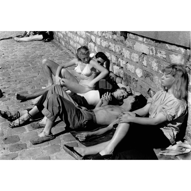 No. 035 Sunbathers Along the Seine, Paris, France, 1951