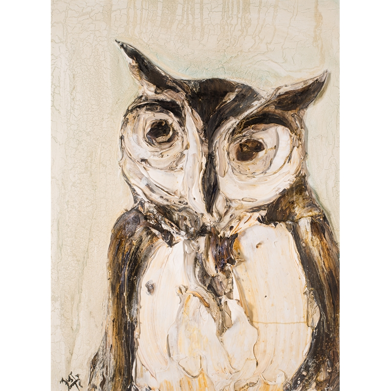 OWL STUDY OWL30X40-2017-DD11 by Justin Gaffrey