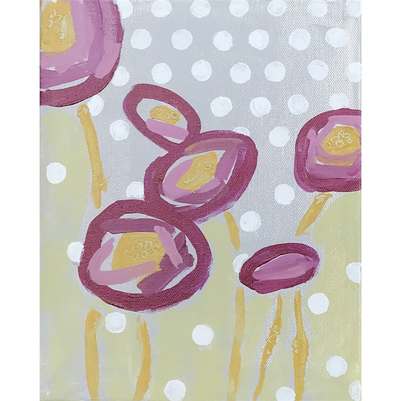 Purple Poppies + Dots