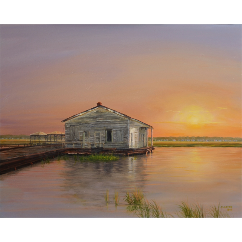 Boathouse on SI by Douglas Grier -- Giclee Prints