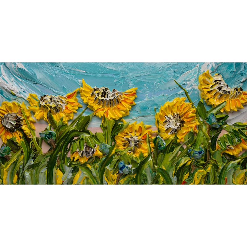 SUNFLOWERS SF-60X30-2019-372, 2019